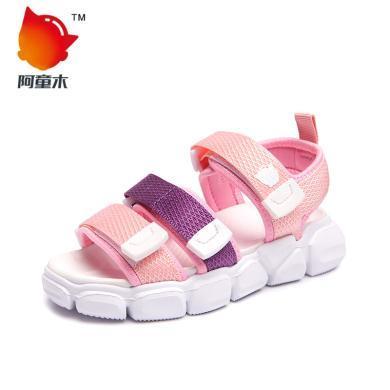 阿童木男童鞋女童凉鞋儿童休闲沙滩鞋夏季款中大童魔术贴鞋子