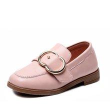 小叮当女童皮鞋2018春季新款韩版简约公主单鞋中小童学生校园单鞋DA80602