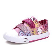HELLO KITTY童鞋女童2018款甜美可爱帆布鞋休闲鞋板鞋K6330603