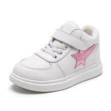 小叮当女童休闲运动鞋秋季新款韩版中邦简约板鞋学生跑步鞋潮DC73209