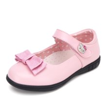 HELLO KITTY童鞋女童春季公主鞋女童皮鞋蝴蝶结学生皮鞋浅口单鞋K7638811