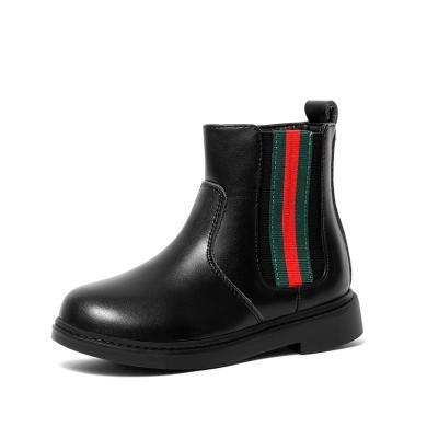 斯納菲童鞋兒童馬丁靴牛皮女童靴子時尚棉靴寶寶短靴18906