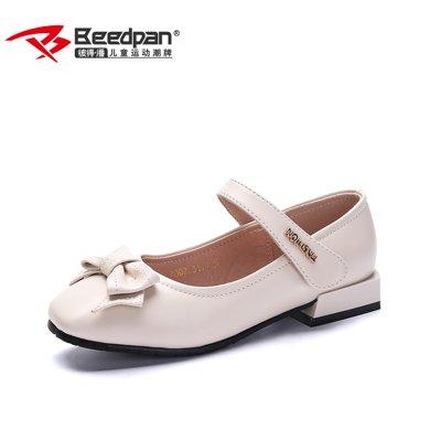 彼潘女童皮鞋 新款女孩公主鞋学生表演鞋黑色皮鞋休闲单鞋P7007