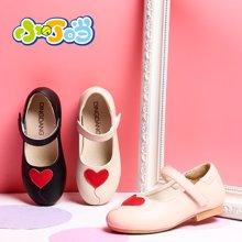 小叮当女童皮鞋2018春季新款韩版甜美公主单鞋中小童校园单鞋潮鞋DA80701