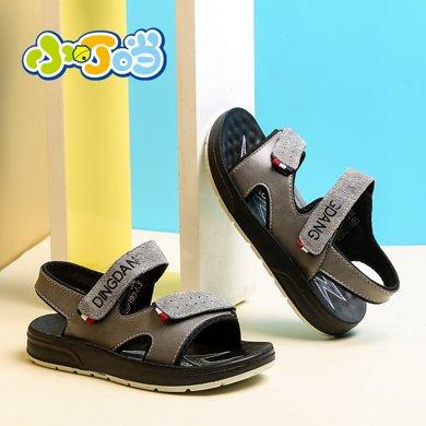 小叮當童鞋兒童露趾沙灘鞋韓版男童透氣涼鞋中小童沙灘鞋校園單鞋DBW17306