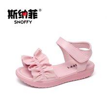 斯纳菲童鞋女童凉鞋 超轻露趾儿童凉鞋中大童沙滩鞋18702