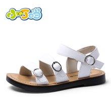 小叮当小女童凉鞋2018夏季新款韩版女童防滑沙滩鞋子DB80907