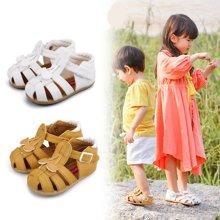 卡特兔童鞋寶寶涼鞋女夏季公主鞋學步鞋男童包頭小孩機能鞋子皮鞋
