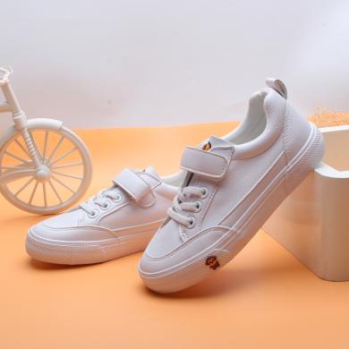 100KM猩猩猴兒童運動鞋男童白色板鞋幼兒園小白鞋小男孩鞋子韓版百搭休閑童鞋