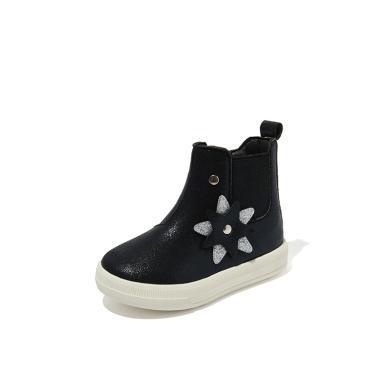 斯納菲童鞋學步女寶寶棉鞋嬰兒童短靴1-3歲女童短靴男女童布棉靴19901