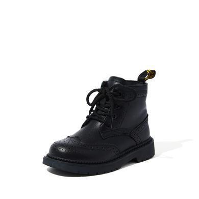 【滿99減20 199減50】斯納菲兒童馬丁靴女童牛皮英倫風短靴子小孩時尚棉靴19920