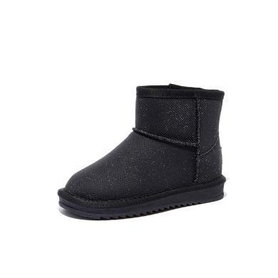 斯納菲2019秋冬新款寶寶女童靴子公主棉鞋棉靴冬鞋兒童雪地靴子9917