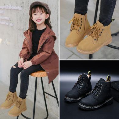 女童馬丁靴2019秋季新款時尚男童靴子兒童洋氣短靴英倫風小童秋冬 TT 561