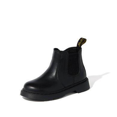 【滿99減20 199減50】斯納菲兒童馬丁靴牛皮男童靴小孩女童靴子冬季小童寶寶短靴英倫風19919