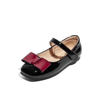 斯納菲童鞋女童皮鞋公主鞋小童寶寶兒童單鞋2019春秋新款鞋子19613