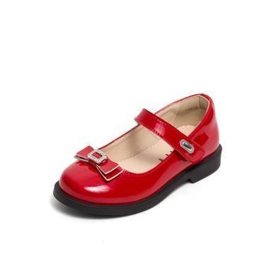 【滿99減20 199減50】斯納菲童鞋春季新款女童皮鞋學生春秋演出鞋兒童黑色單鞋小童鞋子19610