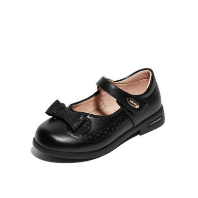 斯纳菲女童鞋2019新款儿童皮鞋 气垫可跑跳公主皮鞋单鞋春秋鞋子19626