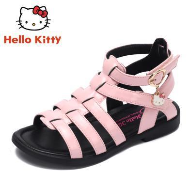 HelloKitty夏季女童涼鞋公主韓版寶寶中大童小女孩兒童鞋子羅馬鞋K8623803