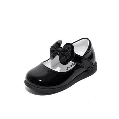 斯納菲女兒童鞋2019春秋嬰兒軟底學步鞋寶寶小公主皮鞋子1-2-3歲19642