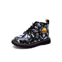 B.Duck小黄鸭童鞋女童靴子2018新款儿童靴子时尚休闲男童马丁靴