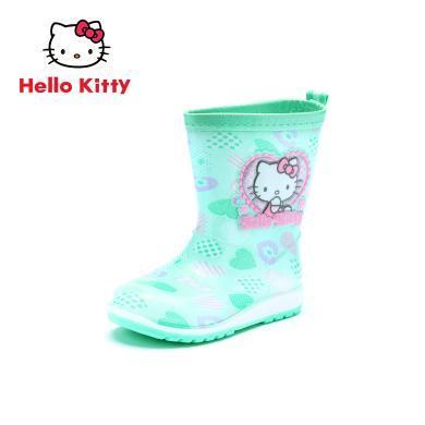HELLO KITTY童鞋女童雨靴2019夏季新款女寶寶四季防滑中筒水靴KP18526