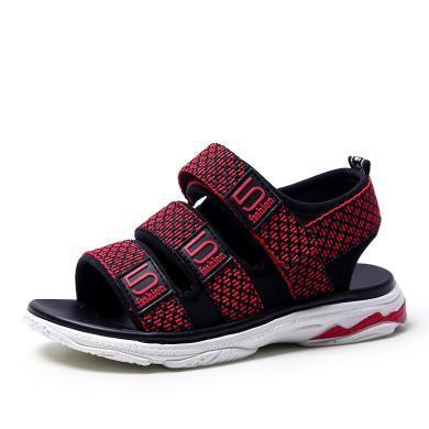 小叮當男童涼鞋2019夏季新款韓版兒童沙灘鞋學生校園露趾潮流鞋子DB80910