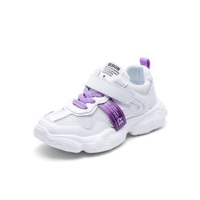 斯纳菲童鞋女童运动鞋2019夏季新款网面镂空透气儿童运动鞋老爹鞋19747