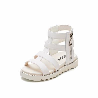 斯納菲女童涼鞋2019夏新款時尚中大韓版小公主鞋兒童鞋女孩羅馬鞋19741