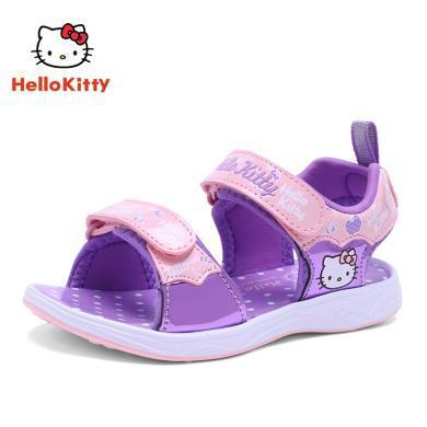 HELLO KITTY凯蒂猫童鞋女童凉鞋2019夏季新款公主宝宝小孩沙滩凉鞋K9525002