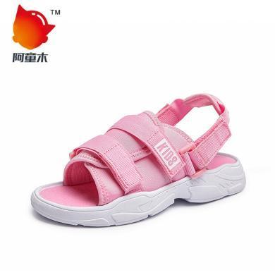 阿童木男童凉鞋夏季新款儿童鞋?#26377;?#31461;魔术贴沙滩鞋女童凉拖