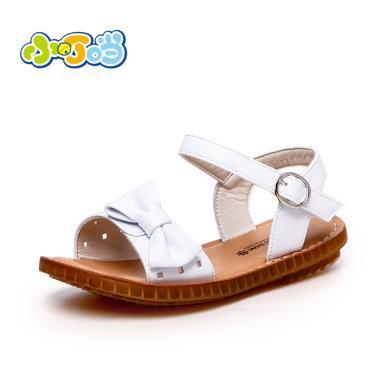 小叮當女童涼鞋2019新款韓版軟底時尚公主中大童平底學生白色涼鞋