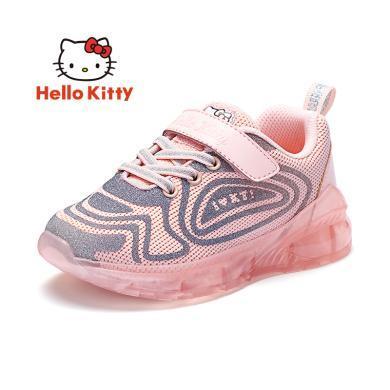 HelloKitty女童鞋凯蒂猫女童运动鞋2019秋新款?#38041;?#33298;适儿童休?#34892;?#28526;K9533892