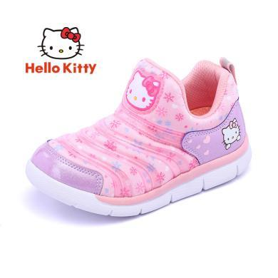 HelloKitty女童鞋凯蒂猫女童运动鞋2019秋新款?#38041;?#33298;适儿童休?#34892;?#28526;K9533005