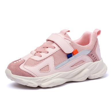 小叮当童鞋儿童运动鞋春季新款女孩鞋小学生透气网面男童鞋子
