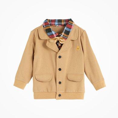 丑丑嬰幼 男童前開外套春秋新款時尚小紳士長袖上衣 CGE228X