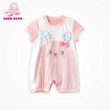 丑丑婴幼 夏季女宝宝卡通哈衣、爬服、连体衣3个月-1岁半 CFE058X