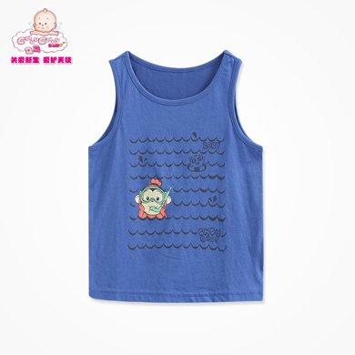 丑丑婴幼  夏装新款男宝宝时尚百搭针织背心(6个月-3岁)CFE404T