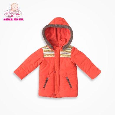 丑丑嬰幼 男寶寶冬季防風棉外套男童休閑保暖棉衣1-4歲