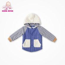 丑丑婴幼秋冬新款男童长袖保暖绒里外套男宝宝衣服