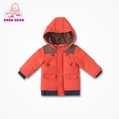 丑丑嬰幼 男寶寶時尚連帽棉衣冬季男童保暖棉外套1-4歲 CGE643X
