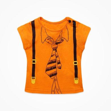 丑丑嬰幼夏季新款男寶寶休閑運動創意可愛圓領套頭T恤