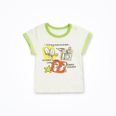丑丑婴幼 夏季男宝宝可爱卡通上衣男童纯棉短袖圆领T恤 CHE220X