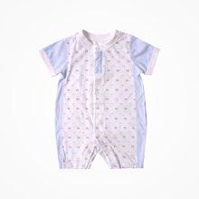 丑丑嬰幼 夏季新款男女寶寶前開哈衣新生兒兒短袖連體衣爬服CJD009X