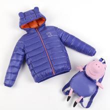 米妮哈鲁童装冬装新款儿童男童女童轻薄羽绒服XE7879