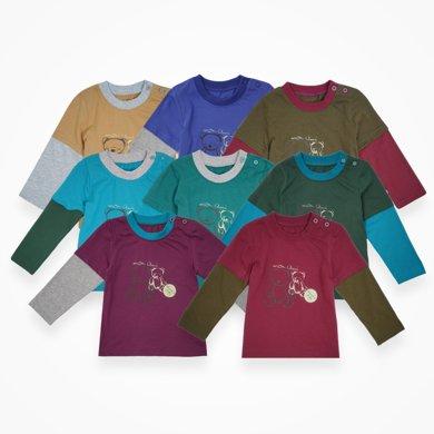 丑丑嬰幼 春季新款 男寶寶 拼接圓領T恤1-4歲 CHE202T