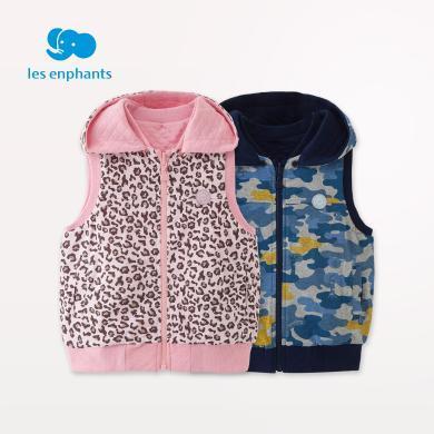 麗嬰房童裝男女童雙面穿馬甲兒童柔軟舒適外套上衣