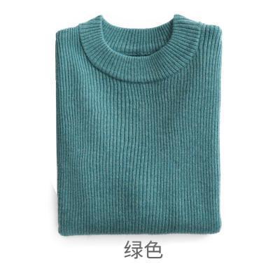 ocsco 童裝針織衫秋冬新款男童毛衣女童線衣中厚圓領套頭衫保暖打底衫