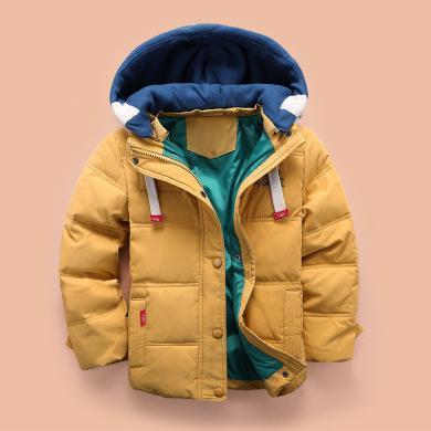 ocsco 男童棉服冬季新款韓版童裝棉衣中大童棉襖時尚兒童連帽外套潮