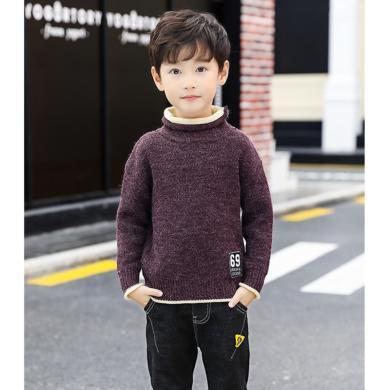 ocsco 童裝針織衫秋冬新款男童假兩件毛衣中大童線衣時尚穿搭打底衫