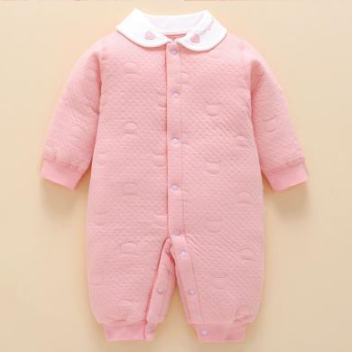 ocsco 秋冬装新款婴儿衣服加厚保暖宝宝连体衣新生儿衣服长袖爬服哈衣